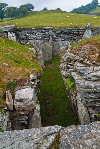 Capel Garmon Burial Chamber photo, View down the passage