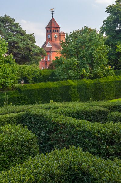 Capel Manor Gardens photo, The Holly Maze and stables