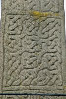 Celtic interlace carving