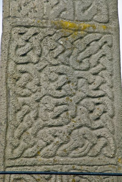 Carew Cross photo, Celtic interlace carving