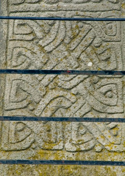 Carew Cross photo, East face carving detail
