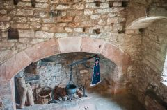 Fireplace in the gatehouse