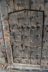 The worn medieval door