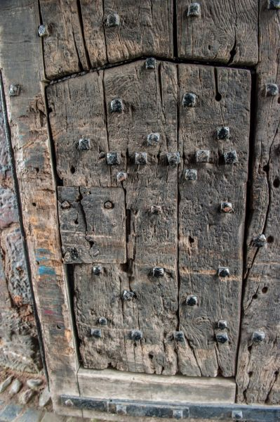 Carlisle Castle photo, The worn medieval door