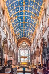 Carlisle Cathedral, The choir and high saltar