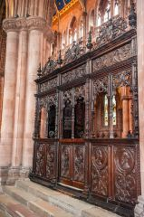 Carlisle Cathedral, A beautifully carved wooden screen