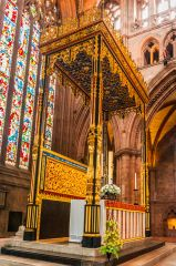 Carlisle Cathedral, The gilded high altar canopy