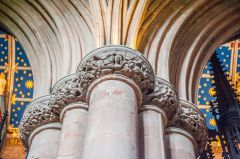 Carlisle Cathedral, Intricately carved column capitals