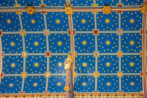 Carlisle Cathedral photo, The painted wagon roof