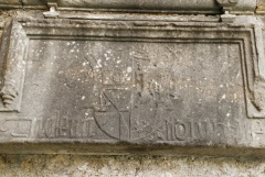 Renaissance inscription over the door