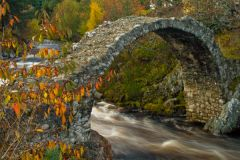 Cairngorms National Park, The old packhorse bridge at Carrbridge