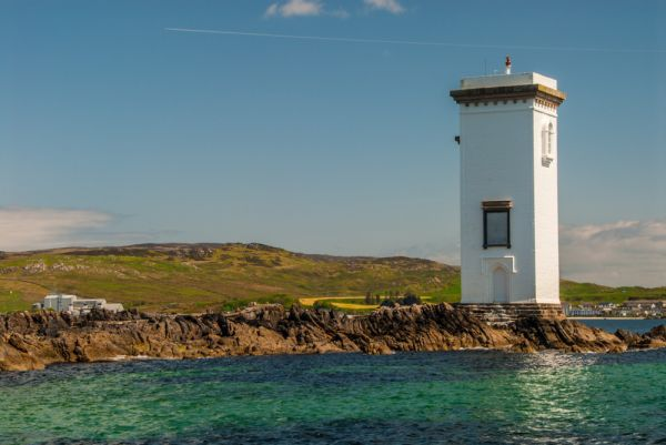 Carraig Fhada Lighthouse photo, The lighthouse from the south west