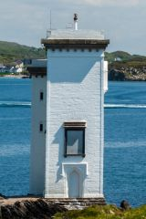 Carraig Fhada Lighthouse, The west front