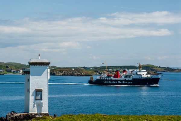 Carraig Fhada Lighthouse photo, The ferry leaves from Port Ellen harbour