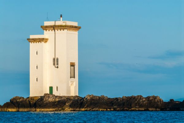 Carraig Fhada Lighthouse photo, Late evening light