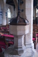 Castle Ashby, St Mary Magdalene Church, Medieval font