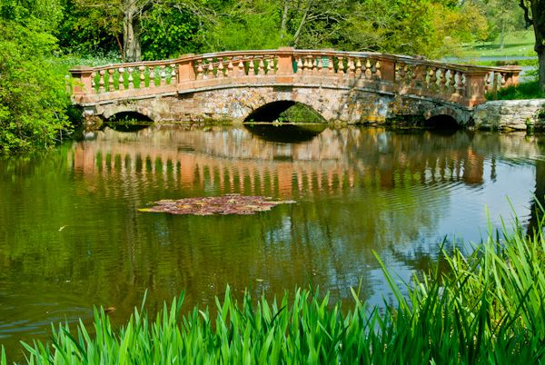 Castle Ashby Gardens photo, Capability Brown garden bridge