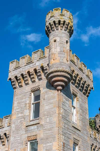 Castle Lodge photo, The turreted top of the Lodge