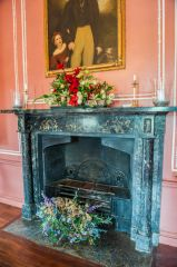 18th century fireplace in the Great Hall
