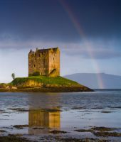Castle Stalker, Rainbow over the castle