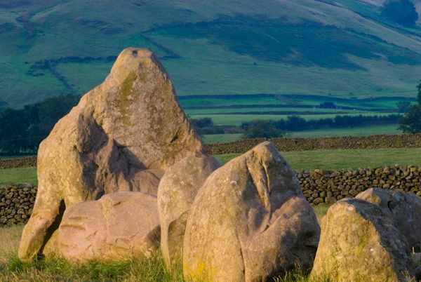 Castlerigg photo, Early morning light on the stone circle