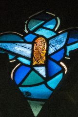 14th century glass depicting a saint