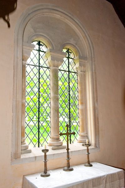 Catmore, St Margaret's Church photo, East window interior view
