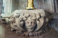 Another carved face in the chancel