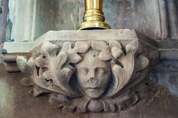 Chaddesley Corbett, St Cassian's Church photo, Another carved face in the chancel