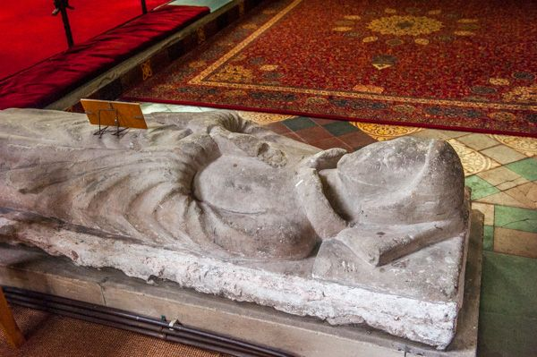 Chaddesley Corbett, St Cassian's Church photo, Early 14th century effigy of a priest
