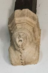 Medieval corbel head, north nave wall