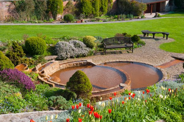 Chalice Well and Gardens photo, The lower garden pools