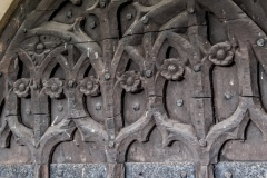 Carving detail on the north door