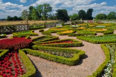 Charlecote Park, The formal rear gardens