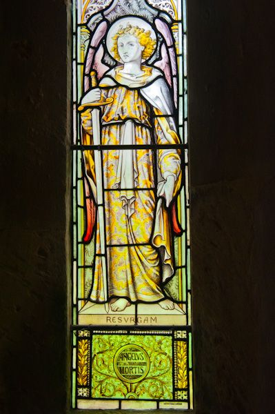 Charlton Abbots Church photo, Victorian stained glass window