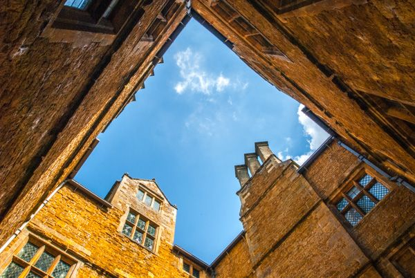 Chastleton House photo, The inner courtyard