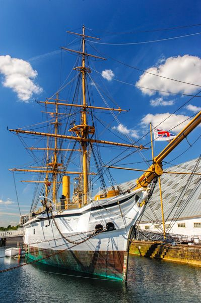 Chatham photo, HMS Gannet at the Royal Historic Dockyards