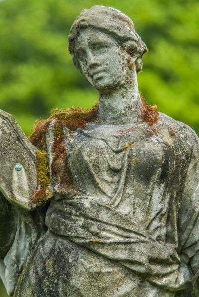 Chatsworth photo, A classical statue in the gardens