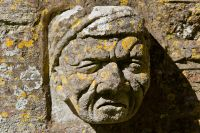 Chapel carved face