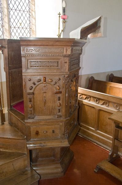 Chediston, St Mary's Church photo, Jacobean pulpit