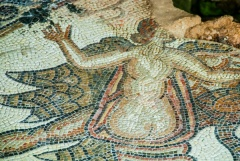 Female figure mosaic