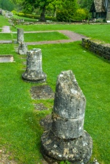 Roman columns at Chedworth