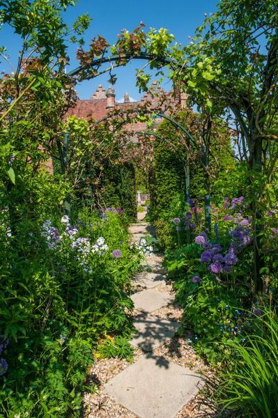 Chenies Manor House photo, A colourful pathway in the formal garden