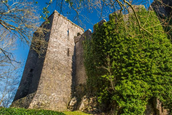 Chepstow Castle photo, Roger Bigod's barbican tower