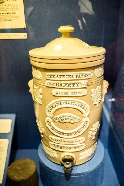 Chepstow Museum photo, A Victorian charcoal water filter
