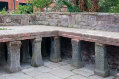 A section of hypocaust