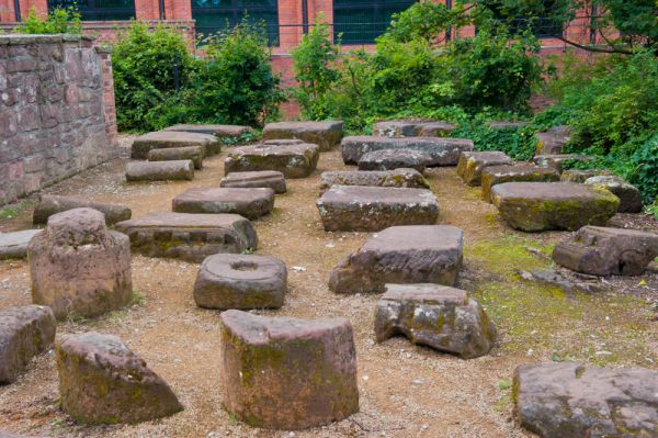 Roman Garden photo, A selection of Roman carved stones from around Chester