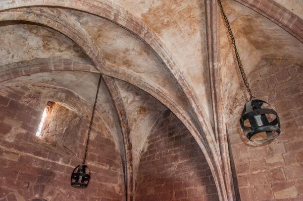 Chester Castle, Agricola Tower photo, The vaulted ceiling