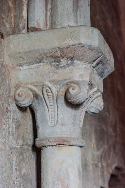 Chester Castle, Agricola Tower photo, A beautifully carved column capital