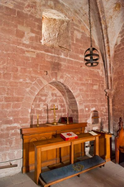 Chester Castle, Agricola Tower photo, The altar of St Mary de Castro Chapel